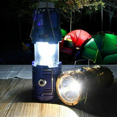 5W Solar Rechargeable Portable Fan LED Camping Light Table Tent Lamp Flashlight