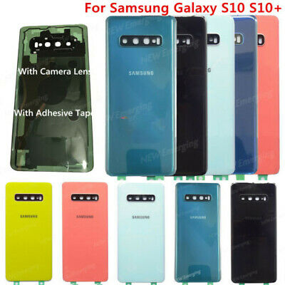 For Samsung Galaxy S10 S10Plus Back Glass Battery Cover Replacement+Camera Lens