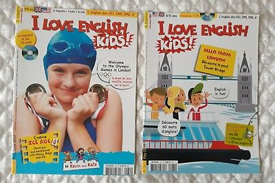 "2 Revues Neuves ""I Love English Kids "" N° 130 Et N° 161 Cd Inclus"