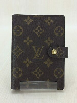 Louis Vuitton Monogram Agenda MM Day Planner Notebook Cover Case R20004 Used