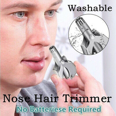 Mini Nose Hair Shaving Removal Clipper Trimmer Manual Device With Cleaning Brush