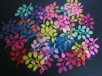 Die Cuts    Leaves    15  Various Colours
