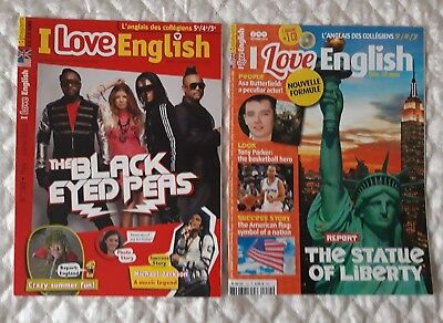 "2 Revues Neuves ""I Love English"" N° 188 Et N° 244"
