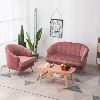 Small Living Room 2 Seater Sofa Couch Settee Shell Loveseat Tub Chair Armchair