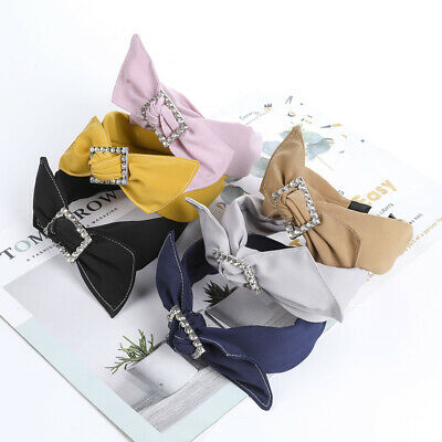 Beautiful Ladies Girls Bow with Diamond Headband Knotted Hair Accessories