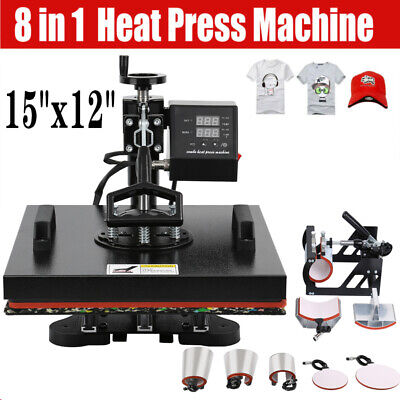 8 in 1 Heat Press Transfer Printing Machine T-Shirt Mug Hat Sublimation Printer