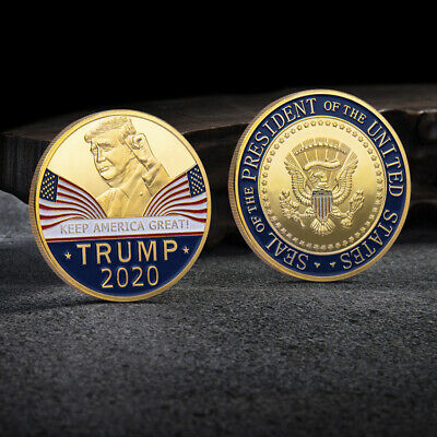 Donald Trump 2020 Keep America Great Commemorative Challenge Coin Eagle Coins RG