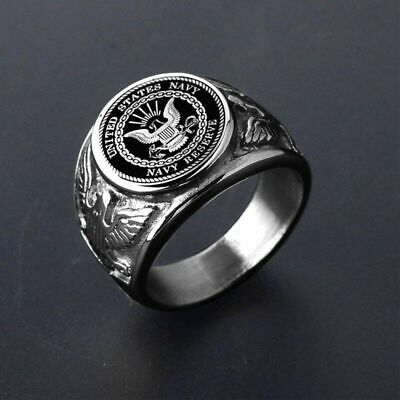 USA Military Ring Stainless Steel United States Marine Corps US Army Men Jewelry