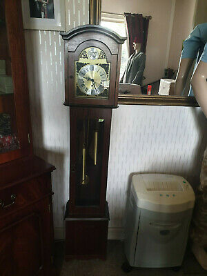 "tempus fugit longcase granddaughter clock,with chime's,58.5""tall made in germany"