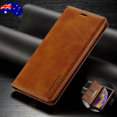 For iPhone 6/6s/7/8 Xs Max Xr Plus Magnetic Leather Flip Wallet Card Case Cover