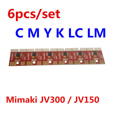 Chip Permanent for Mimaki JV300 / JV150 SS21 Cartridge 6 Colors CMYKLCLM