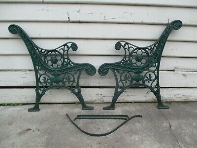 Vintage cast iron bench seat ends.  Outdoor garden chair seat