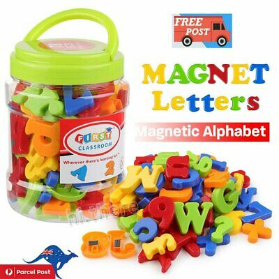 78PCS Magnetic Numbers Letters Alphabet Learning Toy Fridge Magnets Xmas gift CG
