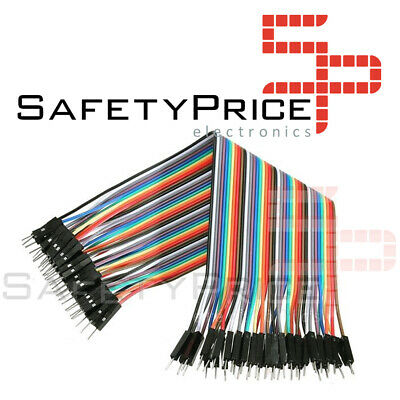 40 CABLES MACHO MACHO 20cm jumpers dupont 2,54 arduino pic protoboars