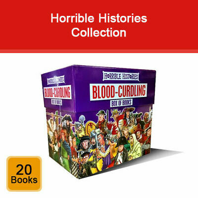 Horrible Histories Blood Curdling Series 20 Books Collection Box Set