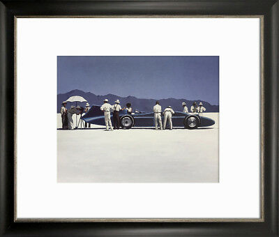 Jack Vettriano Picture Print Small Falmouth Black Framed Billy Boys Picnic Party