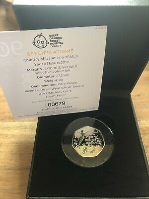 2019 Official Peter Pan 50p Silver Proof With Low COA 679