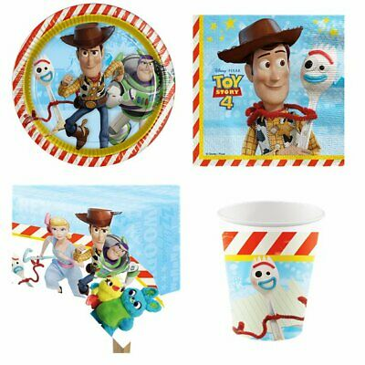 Toy Story 4 Party Supplies & Tableware -Plates, Cups, Tablecover, Napkins, Packs