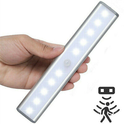 10 LED Motion Activated Cordless Sensor LED Light Indoor Closet Drawer Wall Lamp