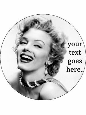 """MARILYN MONROE CAKE TOPPER Personalised A4 Icing Sheet 10/""""x8/"""""""