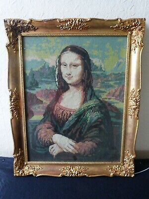 Mona Lisa Leonardo Da Vinci Picture Cross Stitch Thread Embroidery 94 Cm X 44 Cm