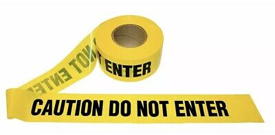 """1 Roll- Yellow Barrier Caution Do Not Enter Tape 2.0 MIL 3""""X1000 Ft. *Free Ship*"""