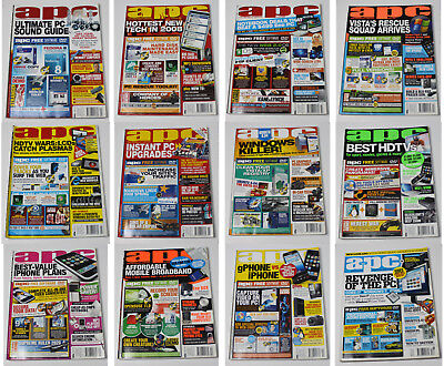 Australian Personal Computer (APC) Magazine (12 Issues from 2008) + 3 Cover DVDs