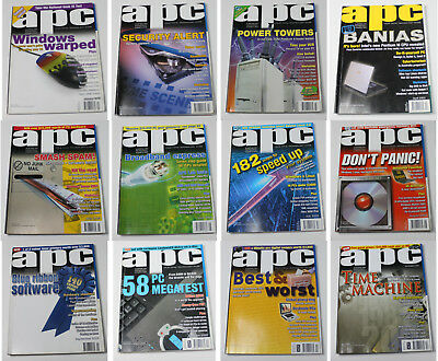 Australian Personal Computer (APC) Magazine (12 Issues from 2003) + 2 Cover CDs