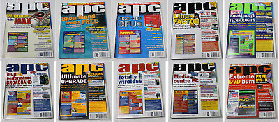 Australian Personal Computer (APC) Magazine (10 Issues from 2004) + 1 Cover CD
