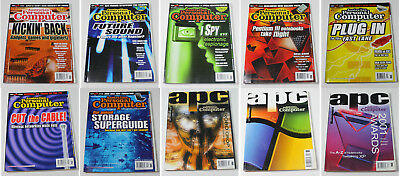 Australian Personal Computer (APC) Magazine (10 Issues from 2001) + 1 Cover CD