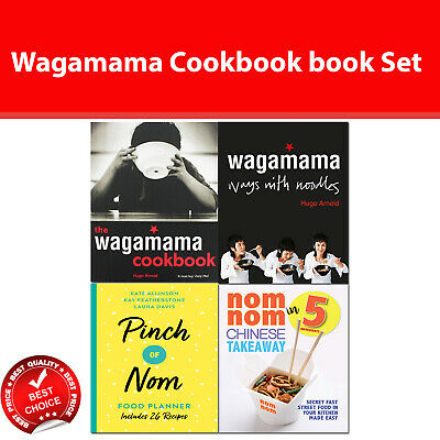 Wagamama Cookbook and Ways With Noodles, Pinch of Nom Food Planner books set NEW