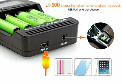 Zanflare C4 Smart LCD Display Speedy Universal Battery Charger with Car Adapter