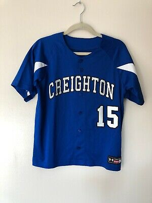 low priced 98551 cbce5 CREIGHTON BLUEJAYS UNDER Armour Button Front Baseball Jersey ...