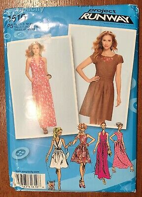⭐ Simplicity 1610 Project Runway Dress in 2 Lengths Size 12-20 ⭐