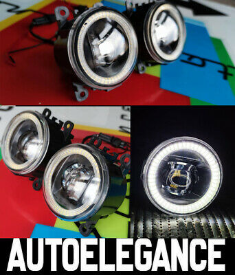 LED ANGEL EYES FANALI SET CON OTTICA LUCE DIURNA VW LUPO BJ 98-05 Nero