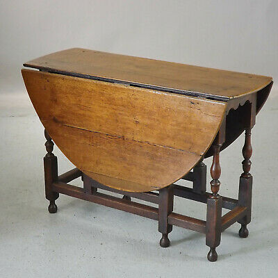 Antique Oak Gate Leg Table (delivery £50 ) Early 18thC