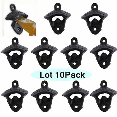 10X Rustic BOTTLE OPENER IRON WALL MOUNT BEER COKE SODA BOTTLE OPENERS NEW MY