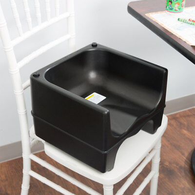 BLACK Dual Height Plastic NSF Stackable Restaurant Booster Seat Chair