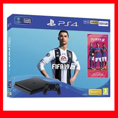 Sony Ps4 Console 500Gb F Chassis Slim Black + Fifa 19 Eu
