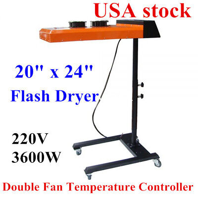 """USA 220V 20"""" x 24"""" Flash Dryer Double Fan Temperature Controller Flash Dryer"""