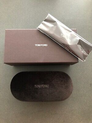 Tom Ford eyeglasses Case. New In Box With Cloth. Brown Velvet. Style B8.