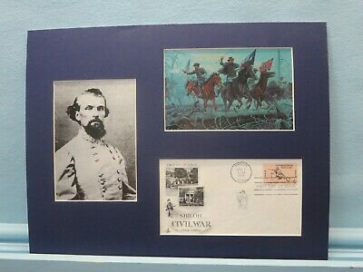 Nathan Bedford Forrest at the Battle of Shiloh & First Day Cover of its stamp