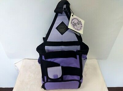 Tote-ally Cool On the Go Canvas Scrapebook Craft Bag Purple-Black NWT