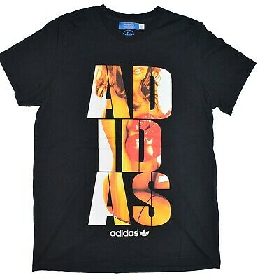 Adidas Originals Tee Special Edition MMXII Boxing Girl Mens Size Large Black euc
