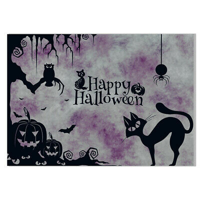 Happy Halloween Cat Canvas Painting Poster Home Wall Art Party Decor Unframed