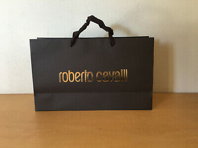 Used - Paper Bag ROBERTO CAVALLI Bolsa de Papel - Brown color Marrón - Usado