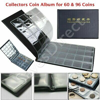 96/60 x Collectors Coin Penny Money Storage Album Book Holder Case Collection