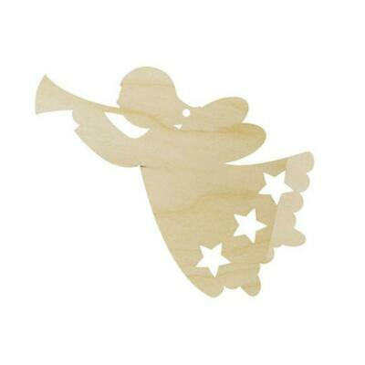 Pronty Wood Ornament - 90mm Heralding Angel #008