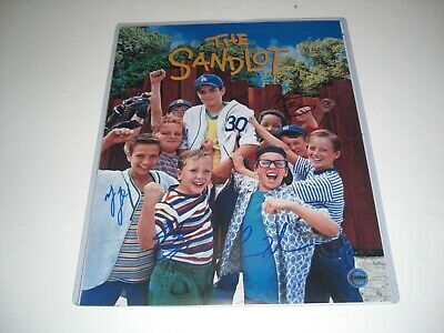 THE SANDLOT CAST Signed 8x10 Squints Yeah Yeah Timmy & Tommy