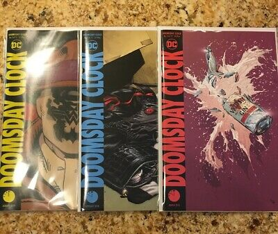 Doomsday Clock #1-3 DC Comics (2018) Lenticular Cover #1 Near Mint